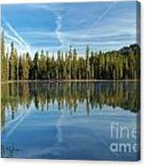Reflections At The Summit Canvas Print