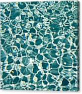 Reflections In A Swimming Pool Canvas Print