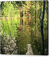 Reflections In The Merced Canvas Print