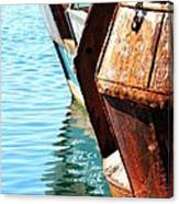 Reflections Of A Rust Bucket Canvas Print
