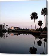Reflections Of Keaton Beach Marina Canvas Print