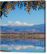 Reflections Of Longs Peak  Canvas Print