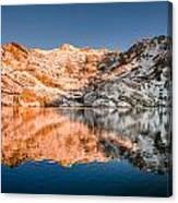 Reflections On Angel Lake Canvas Print