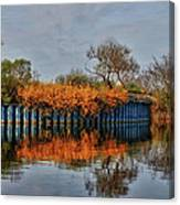 Reflections On Blue Canvas Print