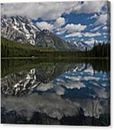 Reflections On Mount Moran Canvas Print