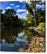Reflections On The Kankakee Canvas Print