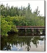 Reflections On The North Fork River Canvas Print