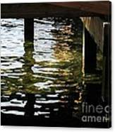 Reflections Under Pier Canvas Print