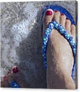 Refreshing Foot Canvas Print