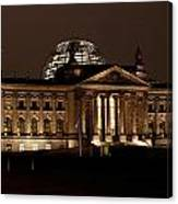 Reichstag At Night Canvas Print