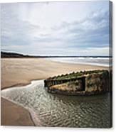 Reighton Sands Shore Canvas Print