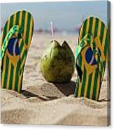 Relaxing On Copacabana Canvas Print