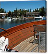 Relaxing On Lake Tahoe Canvas Print