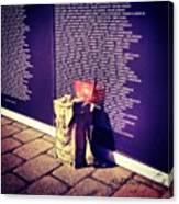 Relica #vietnammemorial Wall In Canvas Print