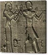 Relief Sculpture Of Cleopatra Vii 69-30 Canvas Print