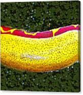 Relishing A Hotdog Canvas Print