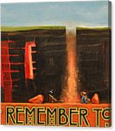 Remember To Flush Poster Canvas Print