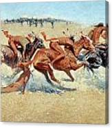 Remington: Indian Warfare Canvas Print