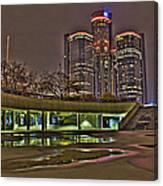 Renaissance Center Detroit Mi Canvas Print