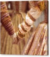 Renaissance Couple Holding Hands Canvas Print