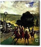 Rennen In Longchamp Canvas Print