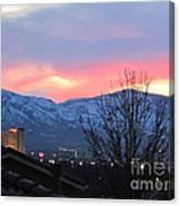 Reno At Night Canvas Print