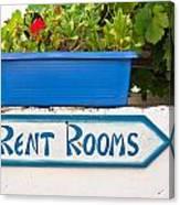 Rent Rooms Sign Canvas Print