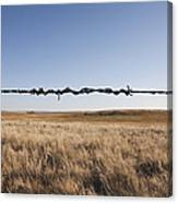 Repaired Strand Of Barbed Wire Canvas Print