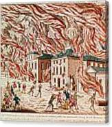 Representation Of The Terrible Fire Of New York Canvas Print
