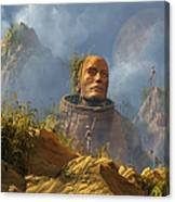 Reptoid Aliens Discover A Statue Canvas Print