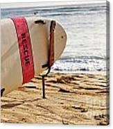 Rescue Surfboard Canvas Print