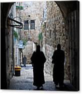 Residents Of Jerusalem Old City Canvas Print