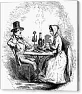 Restaurant, 19th Century Canvas Print