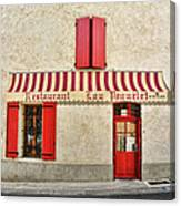 Restaurant In Provence Canvas Print