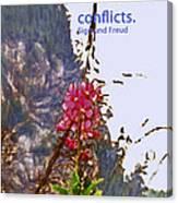 Restful Flowers Canvas Print