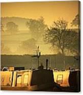 Resting Narrowboats Canvas Print