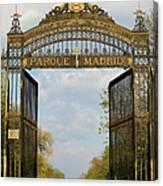Retiro Park Entrance In Madrid Canvas Print