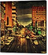 Retro College Avenue Canvas Print