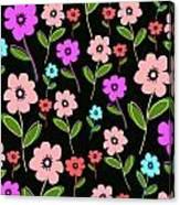 Retro Florals Canvas Print
