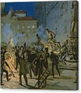 Revolution In Florence Canvas Print