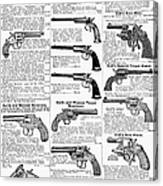 Revolvers And Pistols, 1895 Canvas Print