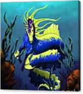 Ribbon Hippocampus Canvas Print