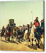 Richard Coeur De Lion On His Way To Jerusalem Canvas Print