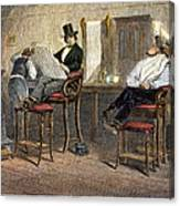 Richmond Barbershop, 1850s Canvas Print