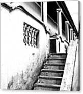 Richmond Stairs Bw Old Hostel Canvas Print