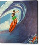 Ride The Waves Canvas Print
