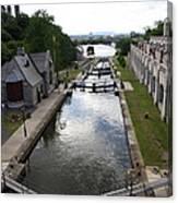 Rideau Canal And Locks - Ottawa Canvas Print