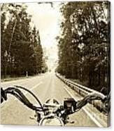 Riders Eye Veiw In Sepia Canvas Print