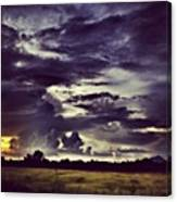 Riders Of The Storm #sky #clouds #drama Canvas Print