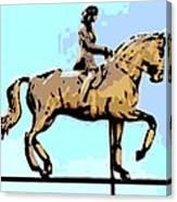 Riding Copper Canvas Print